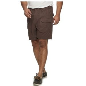 Croft and Barrow brown twill cargo shorts 52 54
